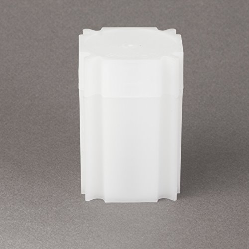 (5) Coinsafe Brand Square White Plastic (Silver Eagle) Size Coin Storage Tube Holders