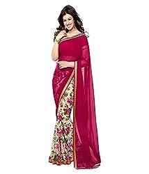 Pushkar Sarees Georgette Saree (Pushkar Sarees_1_Multi-Coloured)
