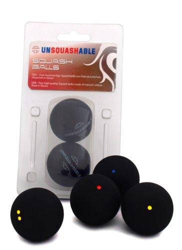 Unsquashable Squashball Squashbälle blau rot gelb doppelgelb 1x 3x 6x Squash