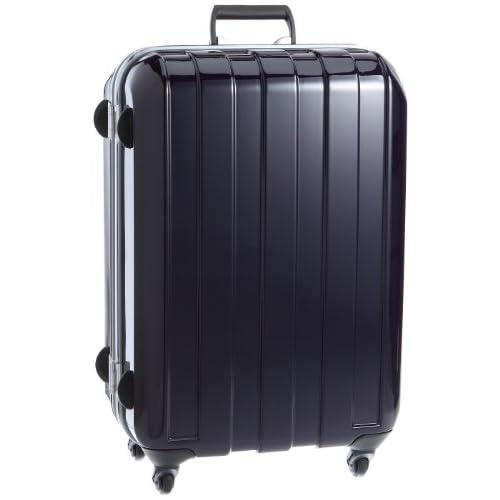 [ヒデオワカマツ] HIDEO WAKAMATSU マスキュラー ポリカーボネート製TSAロックスーツケース Mサイズ(62cm)  85-75178 ディープパープル (ディープパープル)
