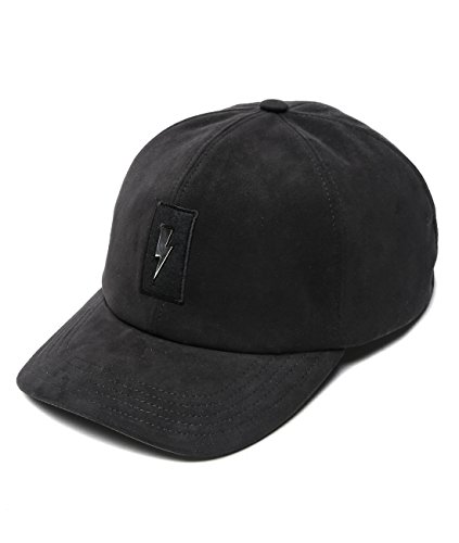 wiberlux-neil-barrett-mens-metal-thunder-patch-snapback-cap-one-size-black