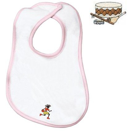Embroidered Infant Terry Bib with the image of: native instruments