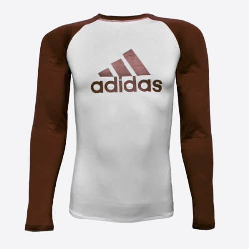 Adidas Brown IBJJF Competition Rashguard - S - BR adidas brown ibjjf competition rashguard s br
