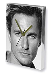 MATTHEW McCONAUGHEY - Canvas Clock (A5 - Signed by the Artist) #js001