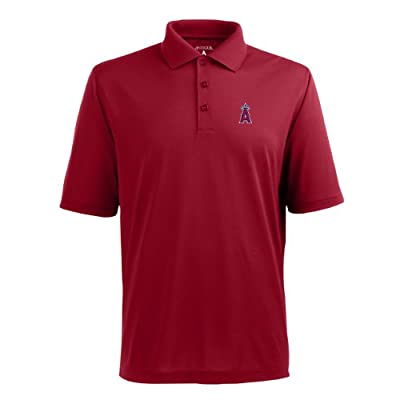MLB Men's Los Angeles Angels Pique Xtra Lite Desert Dry Polo