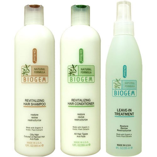 Dr Ross' BIOGEM Shampoo 12oz. /Conditioner 12oz./Treatment 8 oz.- Oily