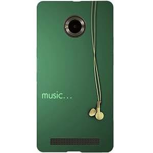 Casotec Music Design Hard Back Case Cover for Micromax YU Yuphoria AQ5010 / AO5010