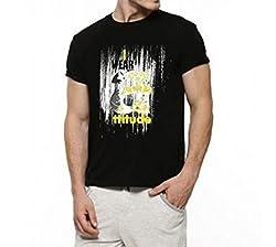 Dmovlov Men's Cotton T-Shirt (D4RN0M0B _Black_38)