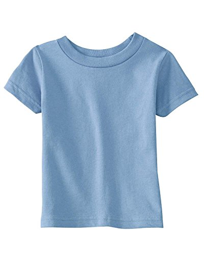 Rabbit Skins Infant 5.5 oz. Short-Sleeve T-Shirt>12MOne size LIGHT BLUE 3401 skins skins dnamic