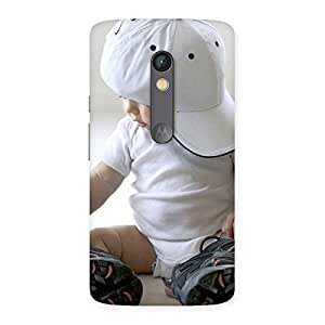 Cute Hip Hop Boy Back Case Cover for Moto X Play