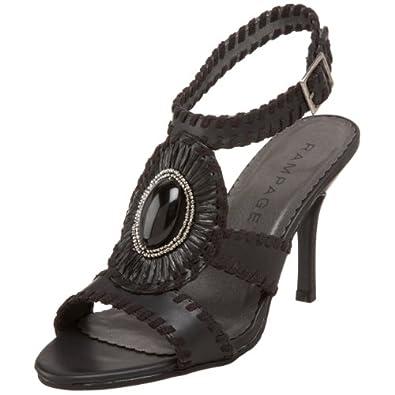 Rampage Women's Kaleb Dress Sandal,Black Patent,8 M US