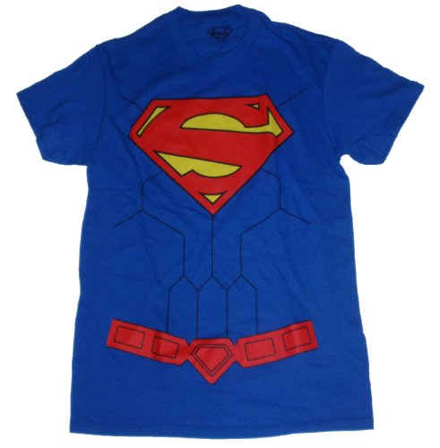 DC Comics Superman Man of Steel Logo Costume Licensed Graphic T-Shirt
