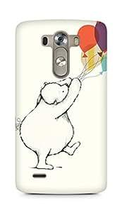 Amez designer printed 3d premium high quality back case cover for LG G3 (Lets celebrate cute bear illust nicola evans)