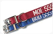 Custom Embroidered Nylon Dog and Cat Collars