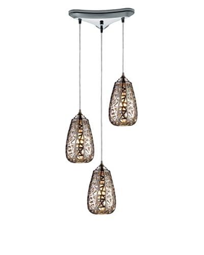 Artistic Lighting Nestor 3-Light Pendant, Chrome