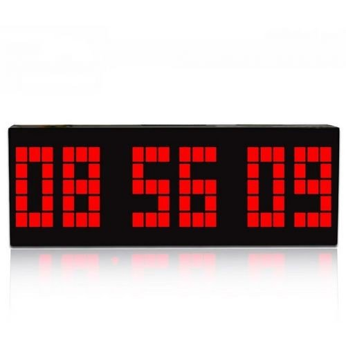 Digital Large Big Number Jumbo Led Snooze Wall Desk Retro Alarm Clock With Calendar-Red Light