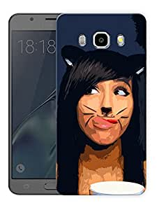 """Catty GirlPrinted Designer Mobile Back Cover For """"Samsung Galaxy J5 2016 Edition"""" (3D, Matte, Premium Quality Snap On Case)"""