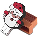 EC Technology Cartoon Santa Digital Data 8GB High Speed USB Flash Drive