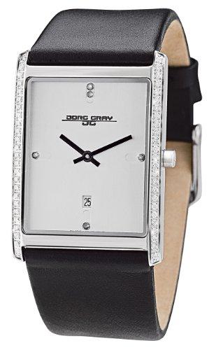 Jorg Gray JG2600-11 - Reloj analógico de cuarzo para mujer, correa de cuero color negro