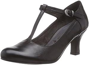 Tamaris  24435, Chaussures à talons avec bride style salomés femmes - Noir - Noir, Taille 38 EU