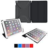 iPad Air 2 Case - roocase Optigon 3D iPad Air 2 2014 Slim Shell Case Smart Cover [Features Landscape and Typing Stand] for Apple iPad Air 2 (2014) 6th Generation Latest Model, Black