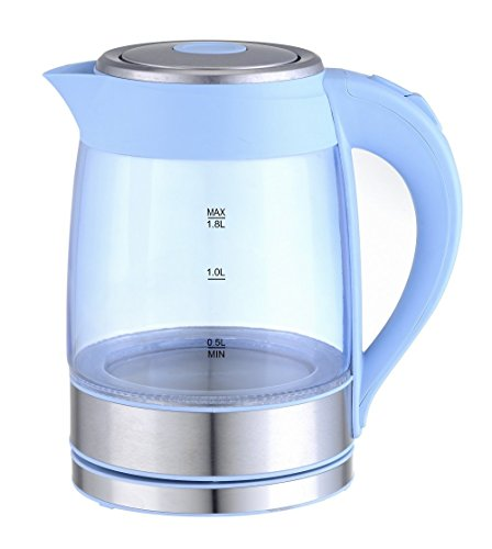 GForce Electric Glass Kettle With Blue LED Light