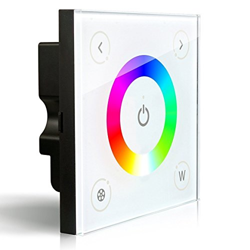 Wall-mounted Touch Panel Full Color RGBW Dimmer Controller LED Strip Lighting 12-24V 16A 192W 384W (5 Year Warranty)