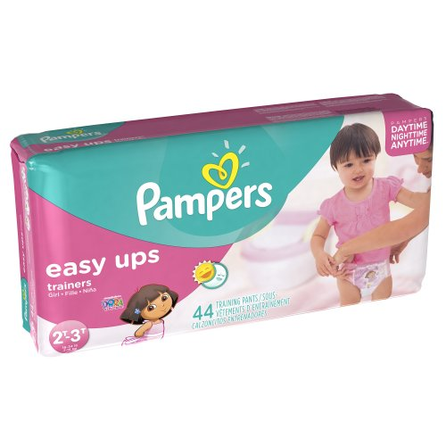 Pampers Easy Ups Girls Size 2T3T Mega Pack 44