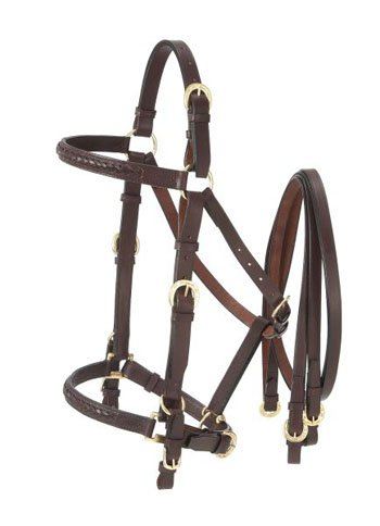 Australian Outrider Collection Aussie Leather Bridle/Halter Combination