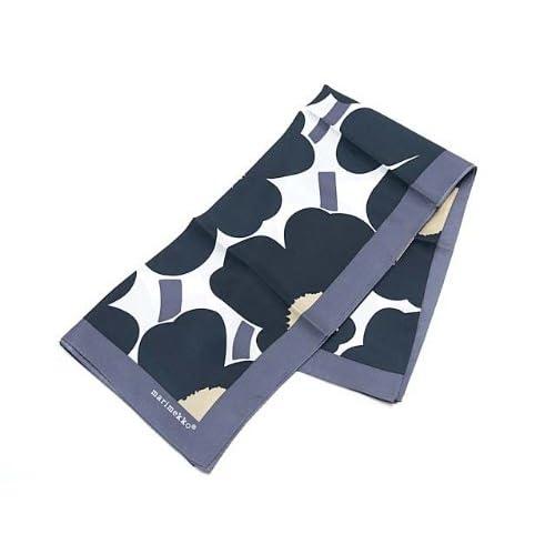 (マリメッコ) Marimekko 37241 POPPIES スカーフ 031 White/Dark Gr [並行輸入品]