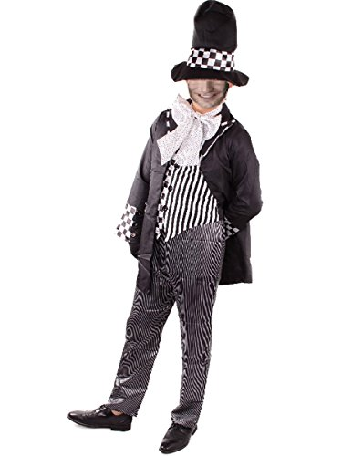 Mad Hatter Costume Men Adult Alice in Wonderland Cosplay Fancy Dress Halloween