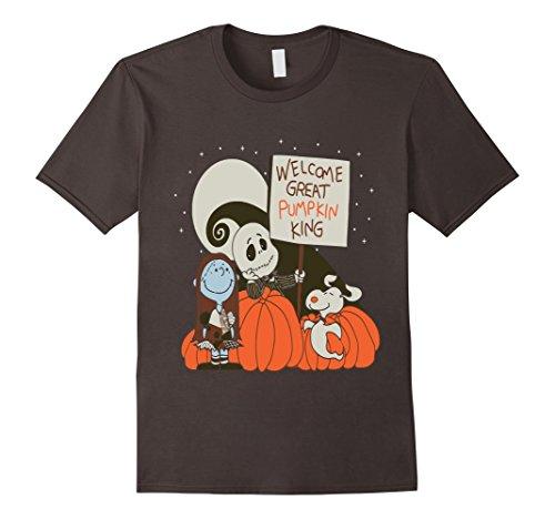 [Men's Great Pumpkin Believer T-Shirts Large Asphalt] (Boogie Man Nightmare Before Christmas Costumes)