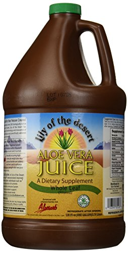 Lily of The Desert Organic Aloe Vera Juice, Whole Leaf, 128 Fluid Ounce