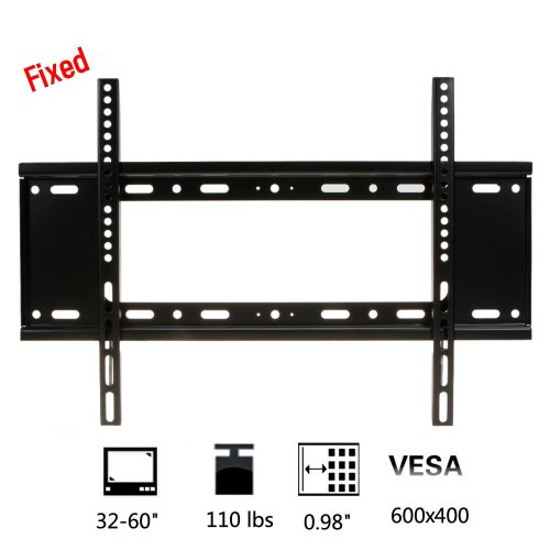 "Fixed Cold Rolled Plate Black Tv Mount Bracket For Most 32-60"" Inch Lcd Led Tv With Vesa Up To 600X400 Exquisite Design"