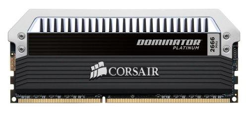 Corsair Dominator Platinum 32Gb (4X8Gb) Pc3 19200 Ddr3 2666 Mhz C12 Desktop Memory Kit Cmd32Gx3M4A2666C12