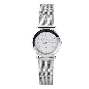 Skagen Women's O107SSSC Quartz Stainless Steel Silver Dial Watch