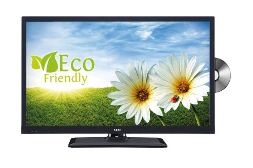 ALED2411TBK 61 cm (24 Zoll) Fernseher (HD-Ready, DVD-Player, Twin Tuner)