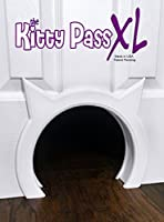 Kitty Pass XL Large Cat Door, interior Large Pet Door Hidden Litter Box.