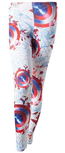 Captain America Leggings taglia XL pantaloni Legging da donna Marvel Shield