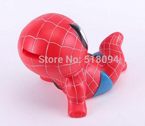 Spider-man Piggy Coin Bank PVC Figure Toys Dolls Gifts for Children Style 4 18cm the amazing spider man action figure toys set super hero anime spiderman collectible model toy christmas gifts n049