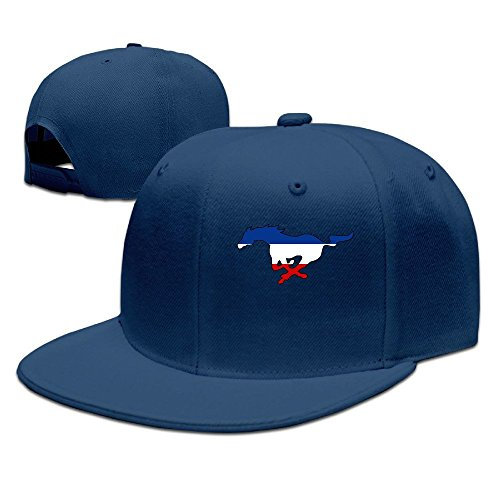 SSEE Unisex-Adult Ford Mustang Flat Bill Hiphop Hats Caps Navy (Ford Edge Jacket compare prices)