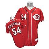 (マジェスティック)Majestic MLB レッズ #54 アロルディス・チャプマン Authentic Player ユニフォーム (オルタネート)