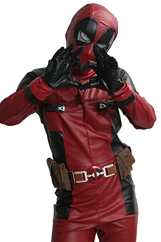Mens Deluxe DP Movie Cosplay Costume PU Leather Full Suit