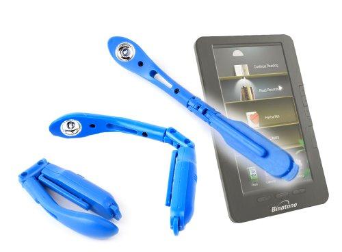 Duragadget Blue Pen Clip On Led Adjustable Reading Light For Binatone 1042285 Readme Mobile Slimline Colour Screen Ebook Reader With Wi-Fi