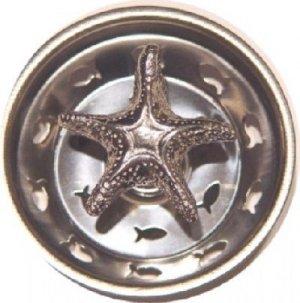 Pewter Starfish Sink Strainer
