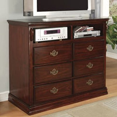 Media Chest in Dark Pine Finish by Furniture of America (Entertainment Center Dresser compare prices)