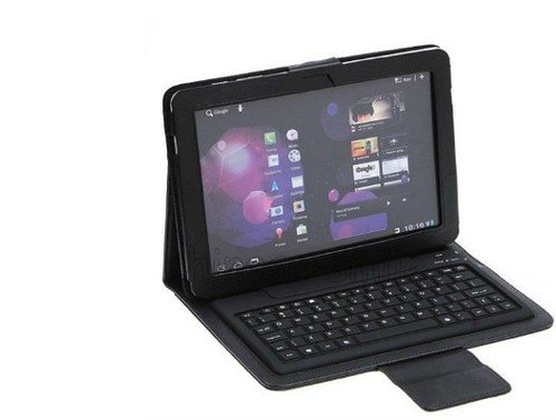 Bluetooth Keyboard Folding Leather Case for Samsung®