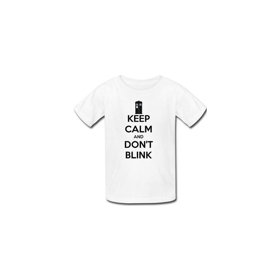 Keep Calm and Dont Blink Mens Short Sleeve White T shirt Keep Calm Tee Shirt (White, M)