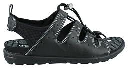 ECCO Women\'s Jab Toggle Sandal,Black/Black,38 EU/7-7.5 M US