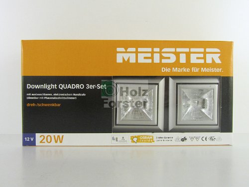 MEISTER Downlight Quadro 12Volt